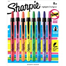 Sharpie Accent Retractable Highlighters, Assorted Colors, 8 Pack (28101)