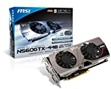 MSI N560GTX-Ti 448 Twin Frozer III PE/OC – NVIDIA GeForce GTX 560 Ti (448 Cores) PCI-E 16X Graphics Card