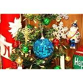 クリスマスオーナメント#109 ミラーボール ブルー