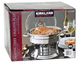 Kirkland Signature Chafing Dish with Lid Rest - Stainless Steel 5 Qt. / 4.7 L