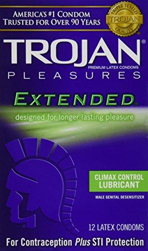 trojan-pleasures-extended-pleasure-lubricated-latex-condoms-12-ct-quantity-of-3
