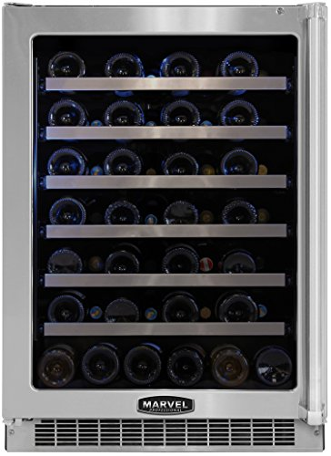 Marvel MPRO6WCM-BS-LL 24-Inch Professional Wine Cellar with Framed Glass Left Hinge Door with SS