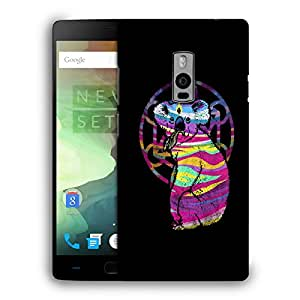 Snoogg Colorful Animal Designer Protective Back Case Cover For ONEPLUS TWO