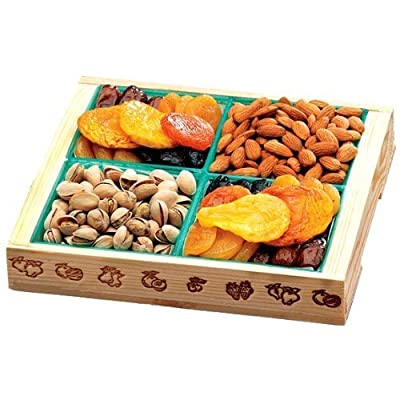 Broadway Basketeers Fruit and Nut Crate Gift Tray