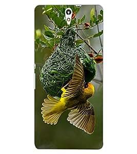 ColourCraft Busy Bird Design Back Case Cover for SONY XPERIA C5 ULTRA