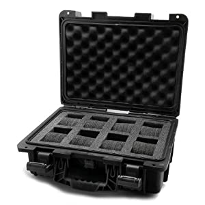Invicta IG0098-SLC8S-B 8 Slot Black Plastic Watch Box Case