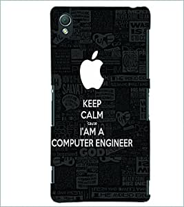 PRINTSWAG COMPUTER ENGINEER SLOGAN Designer Back Cover Case for SONY XPERIA Z3