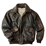 Orvis Men's The Spirit Leather Flight Jacket / Spirit Leather Flight Jacket by NYC Leather Factory Outlet