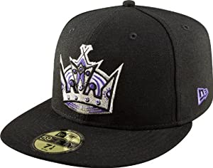 NHL Los Angeles Kings Basic 59Fifty Cap, Black, 7 3/8