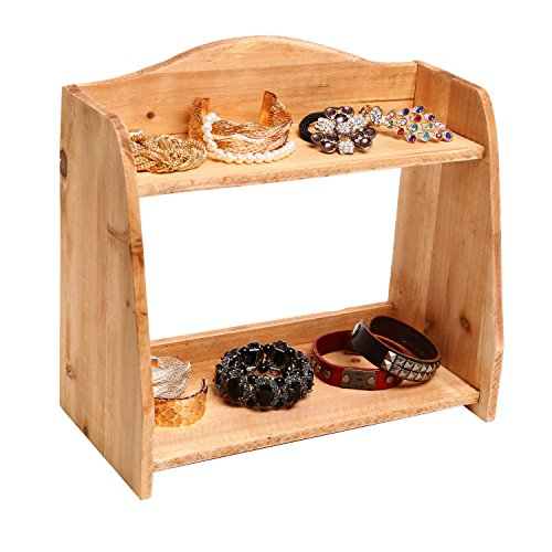 Country Farm Style 2 Tier Wooden Spice Rack / Free Standing Home Storage Organizer Shelves - MyGift�