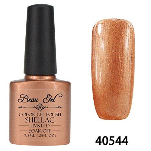Beau Gel Vernis à Ongles Semi Permanent Gel UV ou LED Soak Off Base Top Manucure 7.3ml 40544