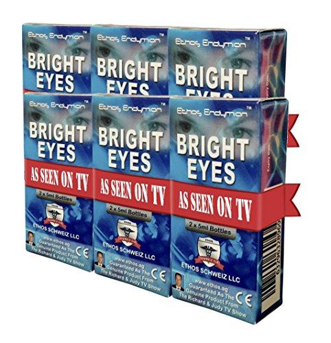 Ethos Bright Eyes™ Carnosine NAC Eye Drops-6-Pack of 12 x 5ml Bottles - NAC Eye Drops (Safe for Cataracts Sufferers) - As Seen on UK National TV with Amazing Results! NAC n acetyl carnosine eye drops...
