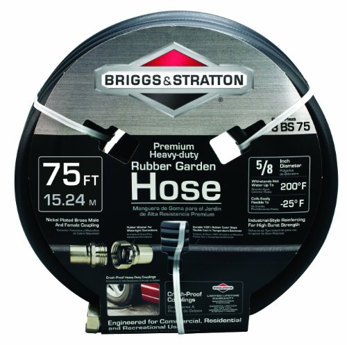 Briggs and Stratton 8BS75 75-Foot Premium Heavy-Duty Rubber Garden Hose (Pressure Washer Hose 75ft compare prices)