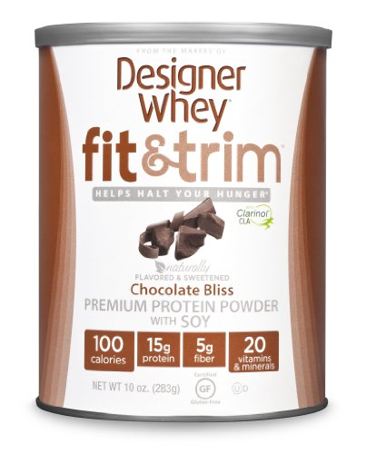 Designer Whey Fit And Trim Premium Protein Powder With Soy, Chocolate Bliss, 10 Ounce