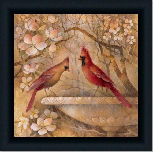 Red Cardinal Bird Decor Picture Ii Art Print Framed (Cardinal Bird Pictures compare prices)