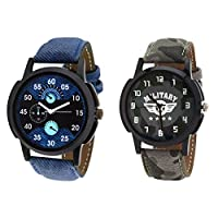 Relish Casual Analogue Multicolour Wrist Watch Combo for Men's - Pack of 2