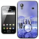Funky Reflective Drum Set Futuristic Hard Case Clip On Back Cover For Samsung Galaxy ACE S5830