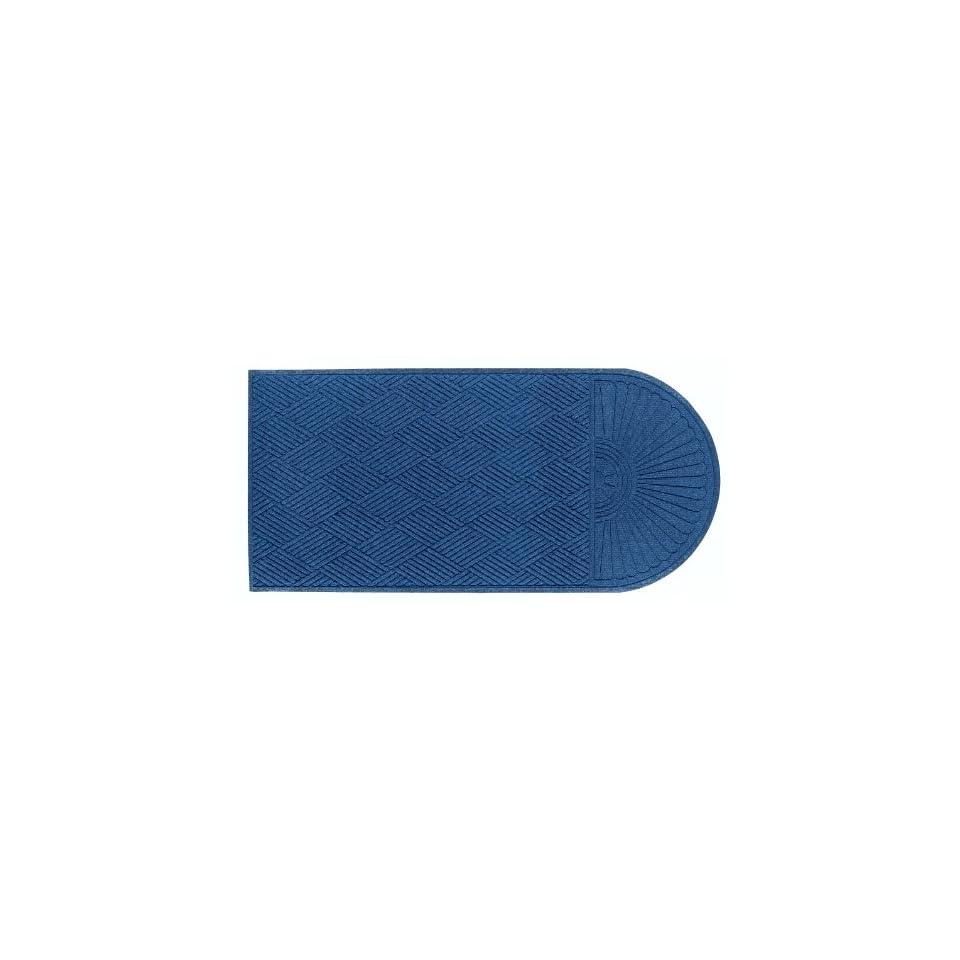 Andersen 272 Waterhog Grand Classic Polypropylene Fiber Half Oval Entrance Indoor/Outdoor Floor Mat, SBR Rubber Backing, 3.3 Length x 6 Width, 3/8 Thick, Medium Blue