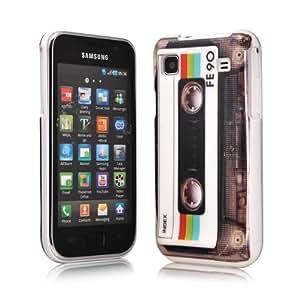MaryCom PREMIUM QUALITÄT Retro Hard Case im Tape Kassetten Design transparent für Samsung Galaxy S i9000 und Samsung Galaxy S Plus i9001 Smartphone