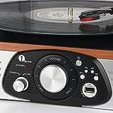 Stereo-Giradischi-1byone-con-Cinghia-a-3-Velocit-e-Altoparlante-Integrato-Lettore-Multiplo-con-Conversione-da-Vinili-a-MP3-USB-per-Riproduzione-MP3-Output-RCA-Connettore-Phono