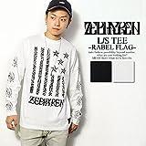 (ゼファレン)ZEPHYREN L/S TEE -REBEL FLAG- BLACK L
