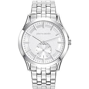 Pierre Cardin Men's 44.3mm Steel Bracelet & Case Quartz Silver-Tone Dial Analog Watch PC107851F04