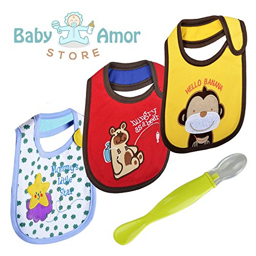 Cute Baby Waterproof Drool Bibs Pack - Best for Dribble while Feeding n Spit ups