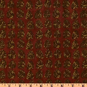 Moda Miss Jumps Scrapbag Leaf Rust Fabric
