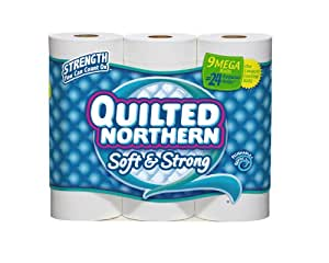 Quilted Northern Bath Tissue Soft and Strong Mega Roll, 9 Count
