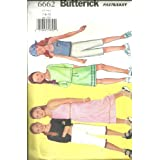 Girls , Top, Skirt, Pants & Scarf (Butterick's Sewing Pattern 6662, Size: 7,8,10) ~ Butterick  Fast & Easy...