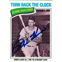 Ralph Kiner Autographed Hand Signed Baseball Card (Pittsburgh Pirates) 1977 Topps...