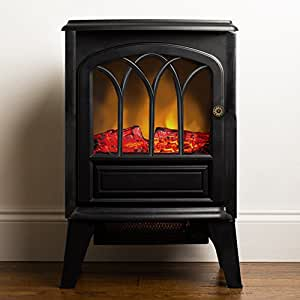 Clevr Freestanding Electric Fireplace Space Heater Kitchen Dining
