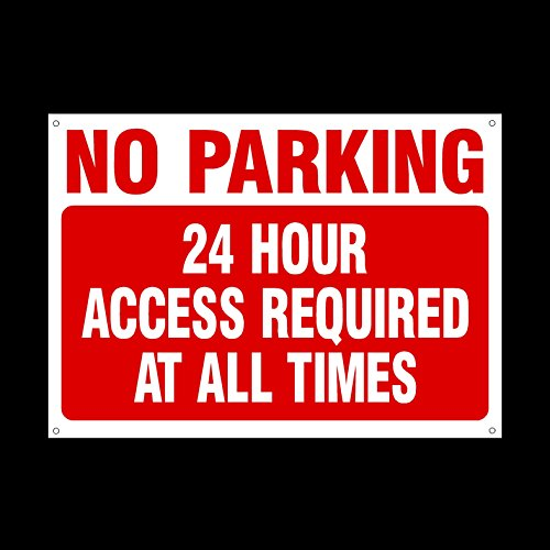 no-parking-24-hour-access-required-at-all-times-3mm-metal-sign-with-4-pre-drilled-holes-private-prop