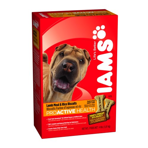 Iams Lamb Meal & Rice Biscuits For Dogs, 4-Pound Boxes (Pack Of 6)
