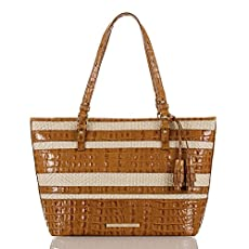 Medium Asher Tote<br>Whiskey Raffia