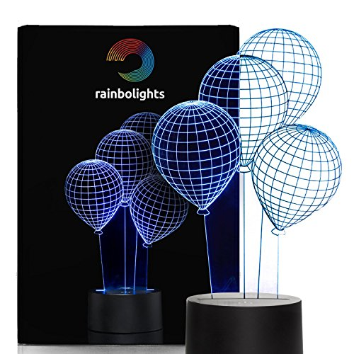 Baby Night Light Balloon 3D Effect 7 Color Great Birthday Gift or as Unusual Gift