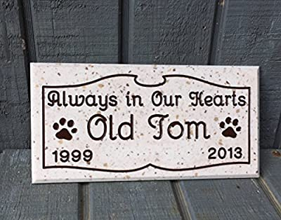 Pet Memorial Grave Stone Personalized Engraved Marker Dog Head Stone Cat Headstone