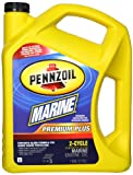 Pennzoil 550022757 Premium Plus Outboard 2-Cycle Marine Engine Oil - 1 Gallon
