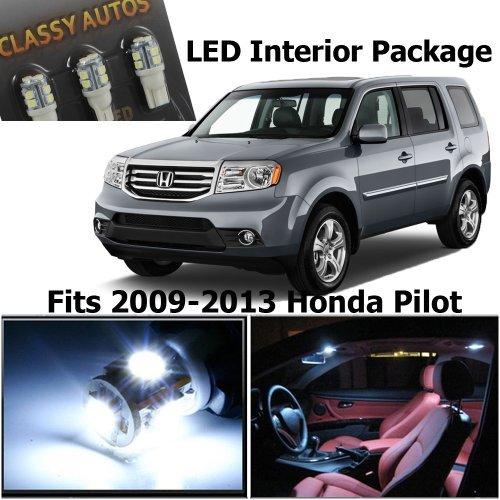 Classy Autos Honda PILOT White Interior LED Package (11 Pieces) (Classy Autos White Led Bulbs compare prices)
