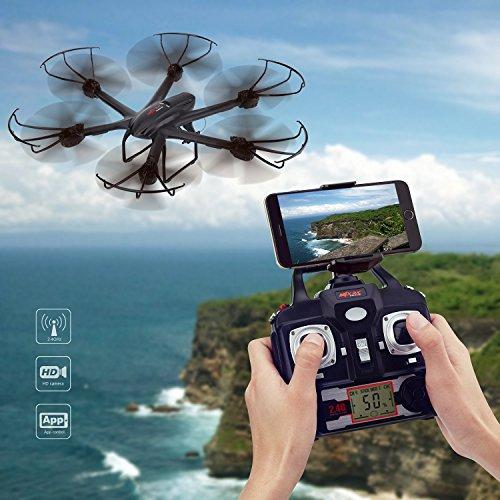 Metakoo-X-601-Drone-Quadricopter-Videocamera-HD-con-Telecomando-24-GHz-a-4-canali-6-Axis-Gyro-RC-Quadcopter-Drone-modalit-Headless-Flip-3D-di-Un-chiave-Ritorno-Automatico-nero