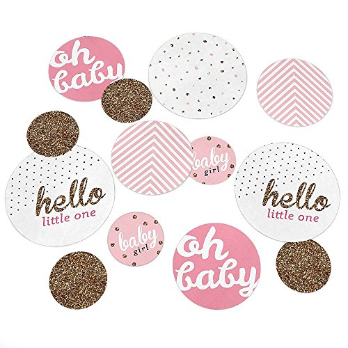 Find Discount Hello Little One - Pink and Gold - Girl Baby Shower Party Table Confetti Set - 27 Coun...