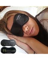 PrimeEffects Sweet Dreams Sleep Mask with Ear Plugs - Super Lightweight Soft & Comfortable Eye Mask Blocks Light Fully - Helps Men Women & Kids Sleep Better - Wide Strap with Velcro and Earplugs Holder - Manufacturer Satisfaction Guarantee