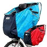 子供乗せ 自転車チャイルドシート レインカバー フロント用 前用 ブルー