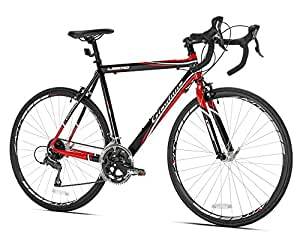 Giordano Libero 1.6 Road Bike, Black/Red, 56cm/Medium