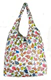 Trendy Sturdy Shopping Tote Bag - Color Birds Pattern