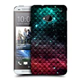 Head Case Printed Spark Red And Blue Studded Ombre Back Case Cover For Htc One