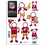 NFL Washington Redskins Small Family Decal Set at Amazon.com