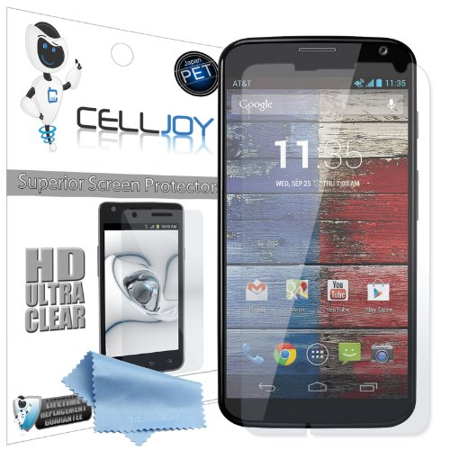 Celljoy Motorola Moto X Premium High Definition (Hd) Ultra Clear (Invisible) Screen Protectors With Lifetime Replacement Warranty [5-Pack] - Retail Packaging