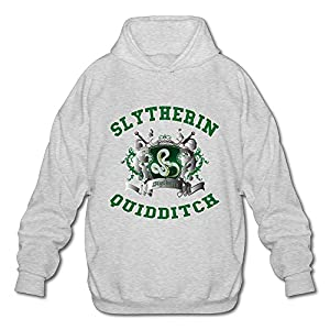 NUBIA Men's Harry Slytherin Quidditch Potter Classic Hooded Ash XXL
