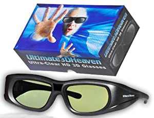 SHARP 3D BLUETOOTH 2013 3D Glasses 3D Heaven Rechargeable Compatible AN-3DG40 3-D Glasses (Sharp HE AN3DG40)